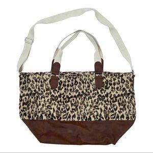 Steve Madden Cheetah Print Weekender Bag